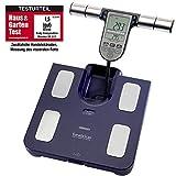 Omron Ganzkörperanalyse-Waage BF511 mit Hand-zu-Fuß-Messung, blau - misst Körperfett, Gewicht,...