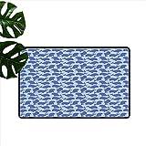 Anzhutwelve Fußmatte, süßes Design, Meeresanemone, Schildkröten, Goldfisch, Schnorchel,...