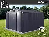 Dancover Geräteschuppen Metallgerätehaus 2,77x3,19x1,92m ProShed, Anthrazit