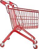 Small Foot 8002 Einkaufswagen Massiv aus Metall, stabiles, rotes Gestell, für Kaufmannsläden, ab 3...