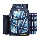 apollo walker 2 Person Picknick Rucksack Hamper Khltasche mit Geschirr Set & Decke