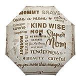 Faltbarer Reise-Regenschirm, Muttertag, Super Mom Nelke, Liebe, Geschenk, Vintage, Outdoor,...