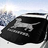 Automotive Windschutzscheibe Schneedecken Dackel Doxen Weiner Word Art Frostschutzfolie, Eisdecke,...