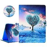 YiCTe Bunte Gemälde Brieftasche Pu-Leder Tablet Fall für Samsung Galaxy Tab 4...