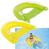 Intex Sit 'N Float - Aufblasbarer Schwimmsessel - 152 x 99 cm - farblich sortiert