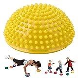 MeiLiu Fitness Balance Ball Yoga Durian Ball Massage Matte Massage Trigger Point Half Ball...