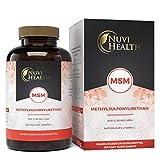 Nuvi Health MSM - 365 Tabletten mit 2000 mg pro Tagesdosis - Einführungspreis - Premium...