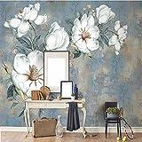 Hwhz Tapete der Wand 3d abziehbar Benutzerdefinierte 3D Wandtapete Vintage Ölgemälde Blume...