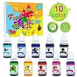 Lebensmittelfarbe - 10 Farben x 10ml Flüssige Lebensmittel Farben Set für Kuchen Backen, Kekse,...