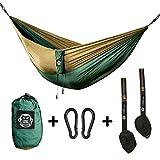 Monkey Swing Hängematte inkl. Aufhängeset I 275 x 140 cm I Outdoor, Travel, Trekking & Camping,...