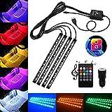 ERCZYO 4x12 Auto LED-Lichtleiste Innenbeleuchtung mit Zwei USB-Autoladegeräten, wasserdichter...