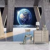 Wandtapete 3D Römische Spalte Erde Sonnenschein Landschaft Hintergrund Wandmalerei Wohnzimmer...