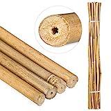 Relaxdays Bambusstäbe 120cm, aus natürlichem Bambus, 25 Stück, Bambusstangen als Rankhilfe oder...