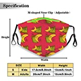 Environmentally friendly masks for protection against dust Atomic Boomerangs Red Unisex outdoor...