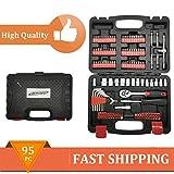 Werkzeugkoffer Werkzeugkasten bestückt 130-tlg Werkzeugsortiment mit Werkzeug DE