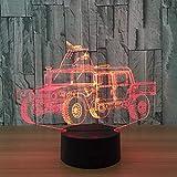 Automodell 3D Lampe 7 Farbe Chang Kleines Nachtlicht Baby Bluetooth Lautsprecher Lichter Led...