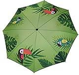Meinposten. Sonnenschirm grn Strandschirm Vogel Flamingo 180 cm UV-Schutz 40+ Balkonschrim (Vogel)