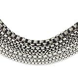 ANAZOZ Herren Titan Halskette O Kette Halskette mit Anhänger Schwarz