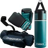 ScSPORTS Boxsack-Set, fr Kinder und Jugendliche, Box-Set mit Boxhandschuhen, Boxbandagen und Tasche,...