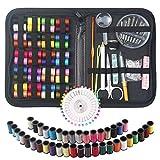 Nähset, DIY Nähzubehör mit Zubehör, tragbares Mini-Näh-Reparatur-Set für Erwachsene, Kinder,...