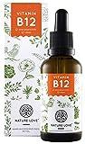 Vitamin B12 Tropfen Vegan in 50ml (1700 Tropfen). Hochdosiert: 1000µg je Tagesdosis. Beide aktive...