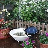 Fiaoen 3W Solar Brunnenpumpe, Mini Wasserdichter Haltbarer Sonnenkollektor mit Tauchpumpe für...