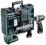 Metabo 600080880 Akku-Bohrschrauber klein PowerMaxx BS Basic Set  10.8V, 2x 2Ah Li-Ion Akkus, inklu....
