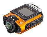 Ricoh WG-M2 kompakte und leichte Actioncam (4K-Video, 204 Grad Ultraweitwinkel-Objektiv) orange