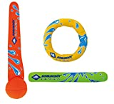 Schildkrt Neopren Diving Set, 3-teiliges Tauchset, je 1 Ring, Stab, Ball, Sandfllung, weich, stehen...