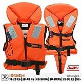 Lalizas Feststoff-Rettungsweste 100 N, CE ISO 12402-4-zertifiziert (1.2 Fr Kinder - Gewicht 15-30...