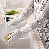 htrdjhrjy aufwendige Plus Velvet Geschirrspülhandschuhe, dick, Kleidung, wasserdicht, Küche,...