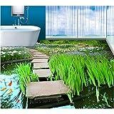Wffmx 3 D Pvc Bodenbelag Benutzerdefinierte Wasserdichte Bild 3 D Wasserpflanzen Flaggings Pool 3D...