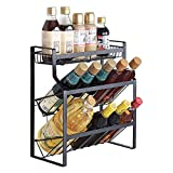 Angela Multifunktionale 3 Tier Metallschrank Spice Rack, Countertop Seasoning Organizer, Gläser...