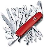 Victorinox Taschenmesser Swiss Champ (33 Funktionen, Kombizange, Stecknadel, Zange, Schere) rot