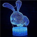 3D LED Nachtlicht Acryl Tischlampe Wohnzimmer Dekoration Schöne Karikatur Nettes schönes Tier...