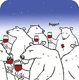 Bugger Bear Lustiger Tischuntersetzer