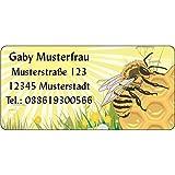 Adressaufkleber - Adressetiketten - Biene auf Honigwabe - 210 Stck 54 x 25 mm, 1-4 Zeilen...