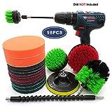 ZHAOSHOP Drill Brush,Power Brush Set Bohrmaschine BüRstenaufsatz Drill Brush Power Scrubber...