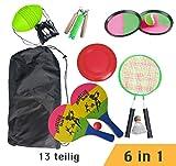 Strandspielzeug 6-in-1 SOLEX Strandspiele-Set, Spiele fr drauen, Spielideen fr den Kindergeburtstag...