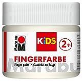 Marabu 03030050070 - Kids Fingerfarbe auf Wasserbasis, parabenfrei, vegan, laktosefrei, glutenfrei,...