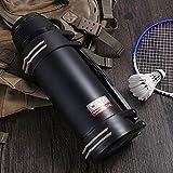 ENI-PAN Outdoor Edelstahl Vakuum Isolation Pot Reise Sportflasche Mit Großer Kapazität,Black-3L