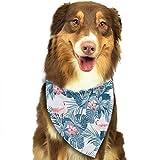iuitt7rtree Halstuch für Hunde und Katzen, mit Flamingo-Vögeln und exotischen Blumen