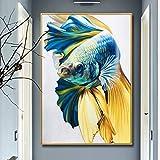 Hohe qualitt goldfisch lgemlde leinwand Kunst lgemlde Geschenk Dekoration Wohnzimmer wanddekoration...