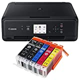 Canon Pixma TS5050 TS-5050 Farbtintenstrahl-Multifunktionsgerät schwarz + 5er Set IC-Office XL...