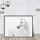 Weißes Pferd druckbare Bild minimalistischen Art-Deco-skandinavischen dekorative Schlafzimmer...