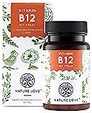 NATURE LOVE Vitamin B12 Vegan - Vergleichssieger 2019* - 1000µg, 180 Tabletten. Beide aktive Formen...