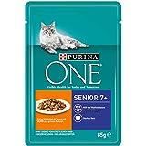 Purina ONE Katzennassfutter, hochwertige Katzennahrung, reich an Vitaminen und Mineralstoffen, 24er...