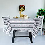 WDFB Christmas Tablecloth New Year Christmas Decoration Gift Zhuo Tablecloth Fabric Cotton 140X240CM