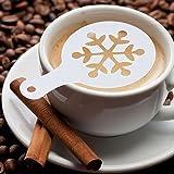Weihnachten Stil 8 Blatt Cappuccino Schablone Kaffee Kakaostreuer Dekostreuer LianLe