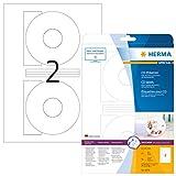HERMA 5079 CD-/DVD-Etiketten inkl. Positionierhilfe DIN A4 blickdicht ( 116 mm, 25 Blatt, Papier,...